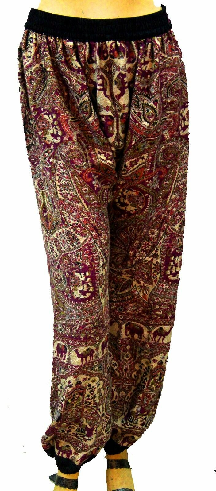 Indian Women's Pajama Full Pant Yoga Baggie Long Trouser Ali baba Pashmina Silk