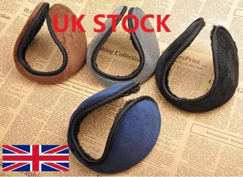 Mens Womens Winter Ear Muffs Fleece Earwarmer Behind the Head Design Ear Warmers