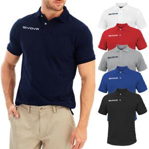 Polo-Uomo-Givova-T-shirt-100-Cotone-Maglietta-Casual-Maglia-Mezza-Manica-Corta