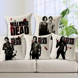 Image Is Loading The Walking Dead Room Decor Cotton Linen Throw