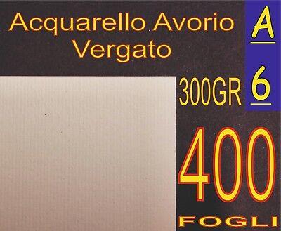 400 Fogli Carta Acquarello Avorio X Biglietti Visita Inkjet Laser 300gr Rigata Limpid In Sight