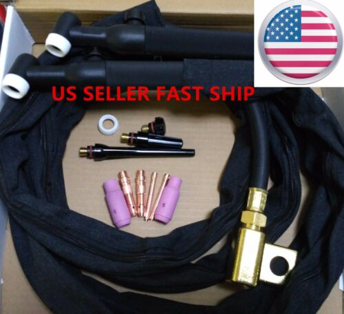 US SELLER WP-26FV 25/' 200Amp Air-Cooled Gas Valve /& Flex Head TIG Welding Torch