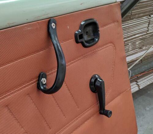 MAZDA R100 1000 UTE 1200 1300 INNER DOOR PULL STRAPS HANDLES SET WITH SCREWS