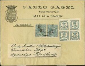 Espana-Alfonso-Xiii-Busta-176-213-2-1889ca-4-4-Cts-Verde-Denti-Verti