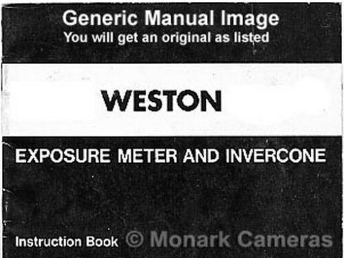 Weston Master Ii más Manuales Incluidos exposímetro Libro de instrucciones s141//735
