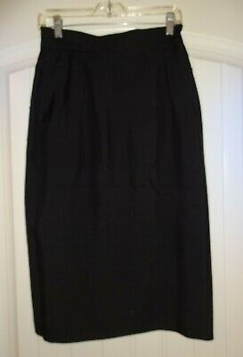 Vintage Austin Reed Black Career Silk Lined Straight Skirt Size 8 Ebay