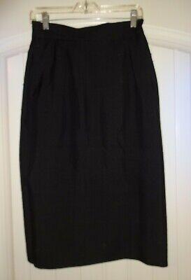 Vintage Austin Reed Black Career Silk Lined Straight Skirt Size 8 Ebay