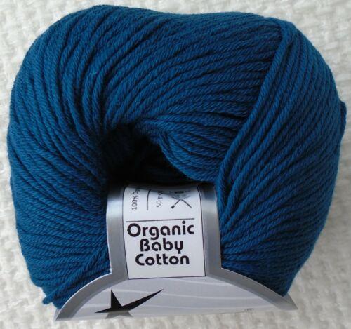Dk Tejido De Lana 50g orgánica bebé algodón tejido de punto doble 100/% Algodón Hilos de hielo
