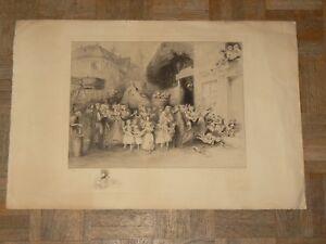 Gravure-Eau-Forte-Signee-Omer-Bouchery-Bosquets-Gloriettes-Tirage-N-115-300