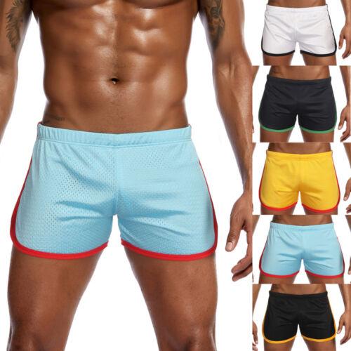Plus Men/'s New Nylon Mesh Sports Flat-Angle Track And Field Trousers Shorts Pant