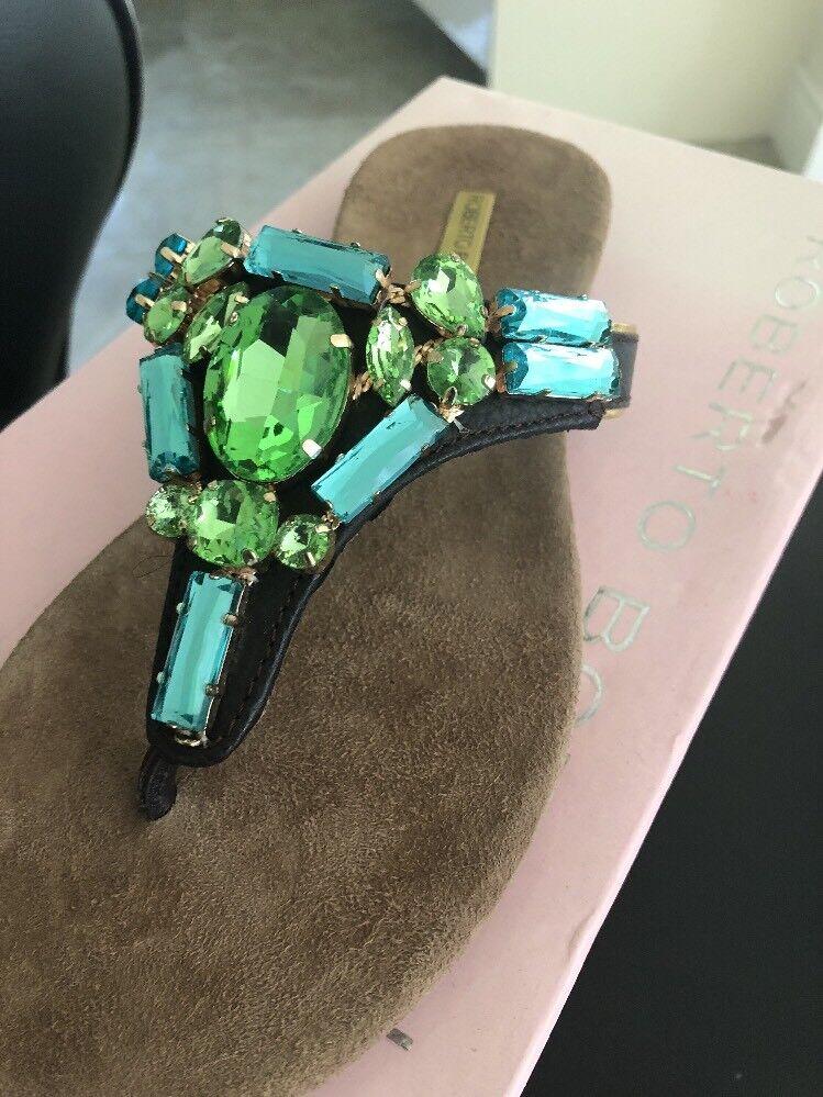 Roberto Botella sandali bassi e diamante misura 37