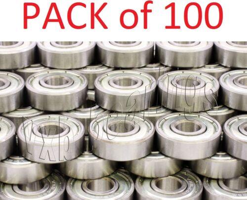 100 Wholesale Lot Bearing 608ZZ 8x22 mm 608Z Metric Ball Bearings VXB 8mm//22mm