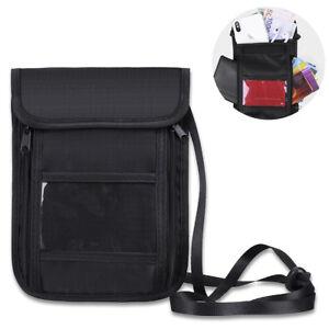 Reisepasse-Brustbeutel-Organizer-Reise-Passhulle-Brusttasche-Reisegeldbeutel
