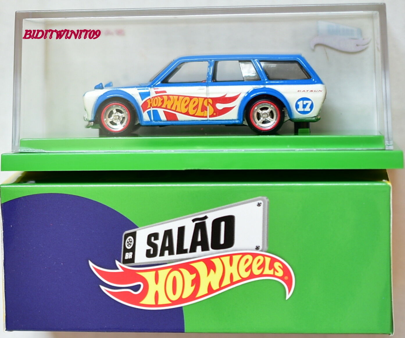 Hot Wheels Brasile Convention '71 Datsun blubird 510 Carro