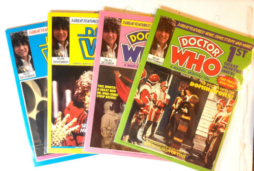 1980 Doctor Who UK Monthly Marvel Comic Magazine #44,45,46,47