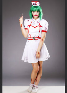 fb0aabf6f300a Free postage. Image is loading Womens-Halloween-Gothic-Joker-Nurse-Costume -DOES-NOT-