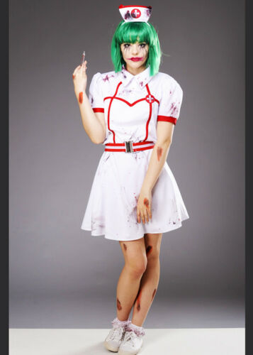 Womens Halloween Gothic Joker Nurse Costume DOES NOT INCLUDE WIG