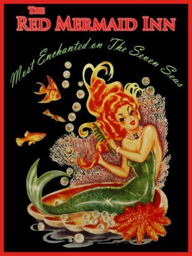 The Red Mermaid Inn Metal Sign