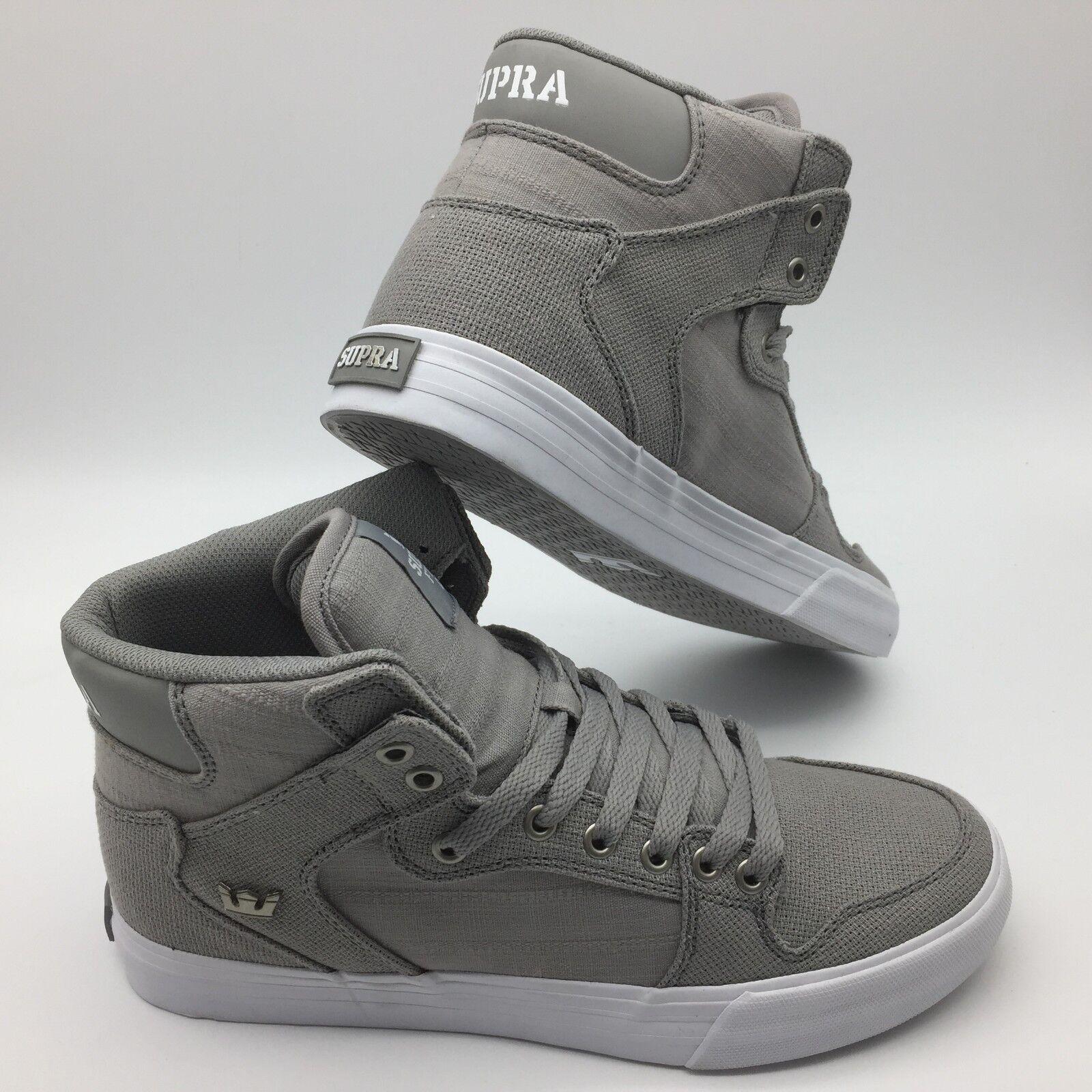 Supra Hombre Zapatos (Vaider) gris blancooo