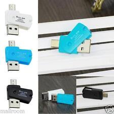 Micro USB OTG USB 2.0 Adapter Micro SD Cardreader Kartenleser für Handy Tablet