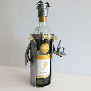 Novelty-Metal-Wine-Bottle-Caddy-Holder-Waiter-Sommelier-Bar-Accessory-Handmade