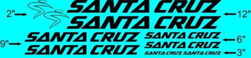 Santa Cruz Frame Decals Custom colors USA Seller!