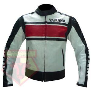 YAMAHA-5241-RED-MOTORCYCLE-MOTORBIKE-BIKERS-COWHIDE-LEATHER-ARMOURED-JACKET