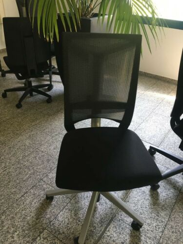 Bürostuhl// Drehstuhl mit Gelkissen Stoff Comforto X88 713 Netz Schwarz