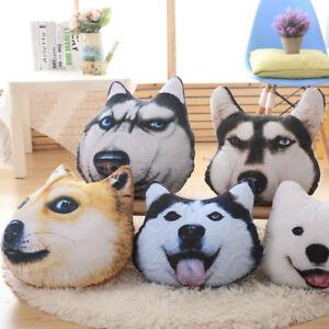 3d Washable Cushion Pillow Doll Gifts Realistic Husky Alaskan