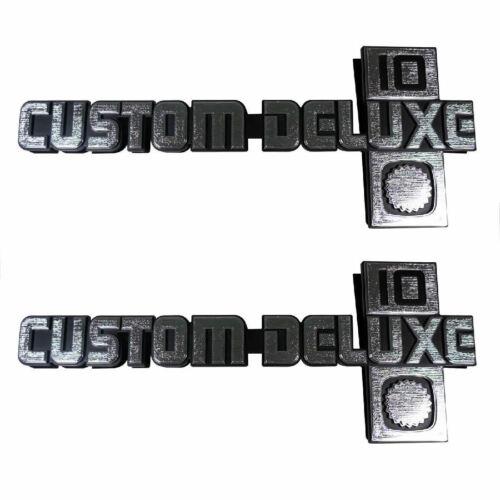 "81-88 Chevrolet C//K /""CUSTOM DELUXE 10/"" Front Fender Emblem Trim SET Trim Parts"