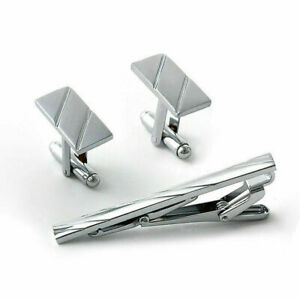 3Pcs-Mens-Metal-Necktie-Tie-Bar-Clasp-Clip-Cufflinks-Set-Simp-D2M7-Useful-S-B3L0
