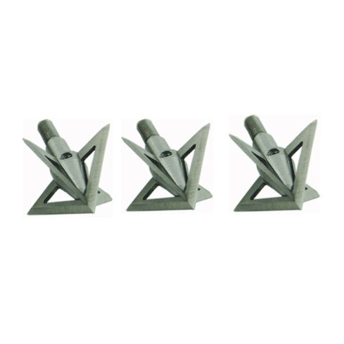 12Pcs Silver Broadheads 100 Grain 4 Blade Crossbow Compound Bow Hunting Tips