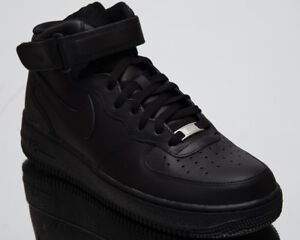 040a23473e43 Nike Air Force 1 Mid  07 Men s Lifestyle Shoes Black 2018 Sneakers ...