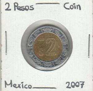 Mexico: $ 2 Pesos Coin Year 2007.