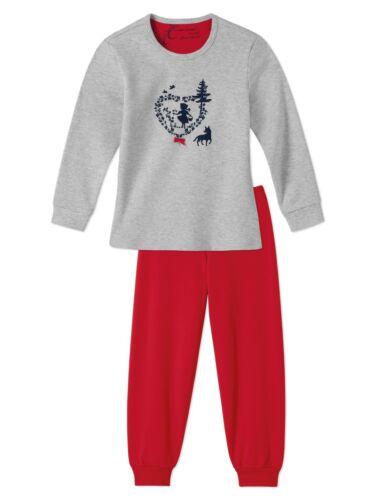 Schiesser Mädchen langer Kinder Schlafanzug Pyjama Lang 140950
