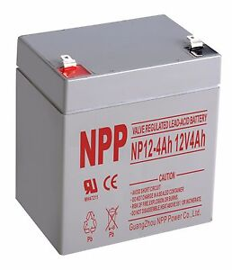 NPP 12 V 4Ah 12Volt 4amp Rechargeable Sealed Lead Acid Alarm System Battery  F1