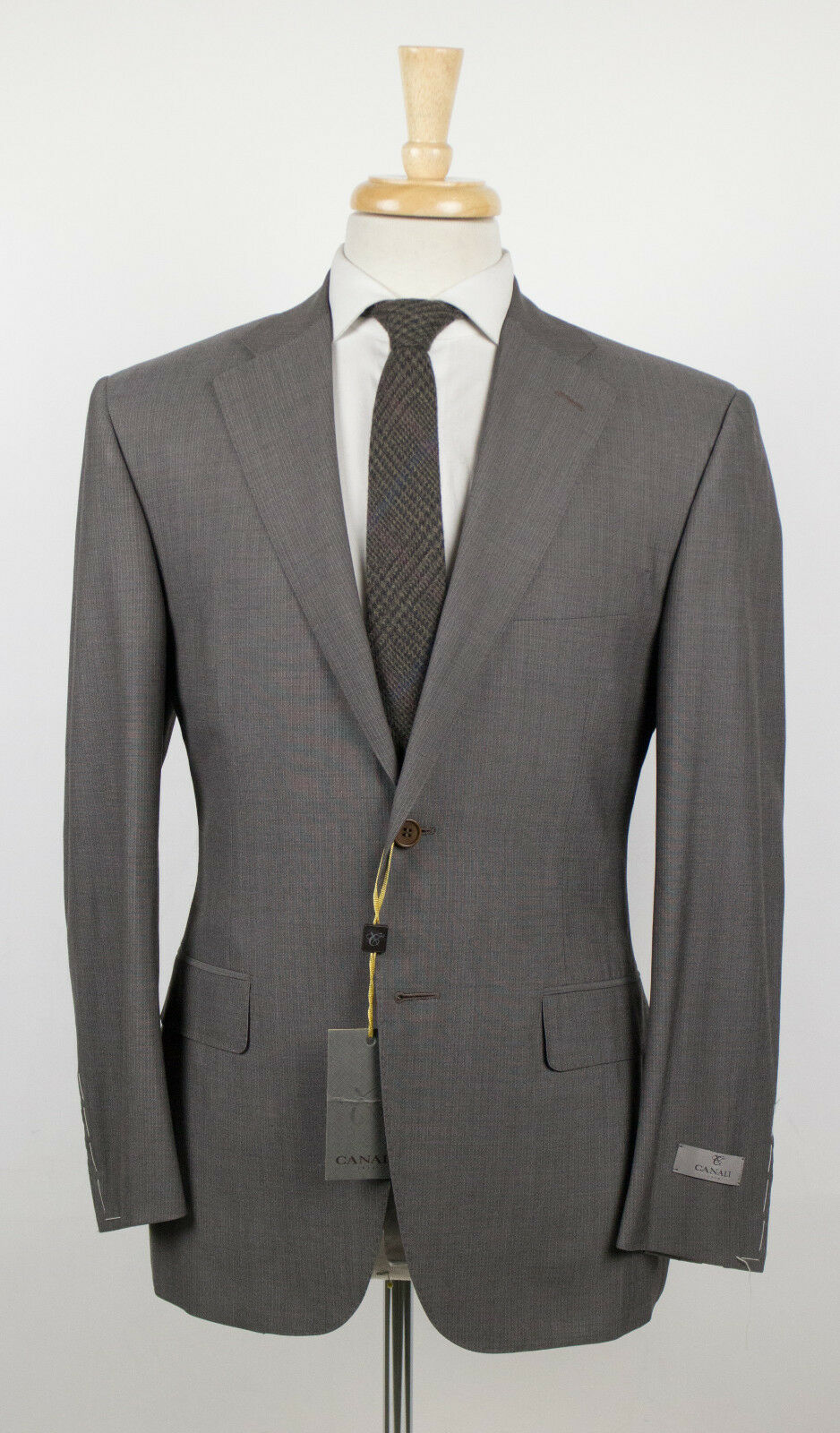 NWT CANALI 1934 Braun Striped Wool 2 Button Suit Größe 48/38 S 1995