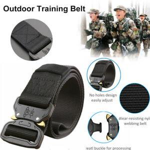 Tactical-Belt-For-Men-Military-Style-1-5-Nylon-Web-W-BLACK-L-Waist-42-039-039-46-039-039-US