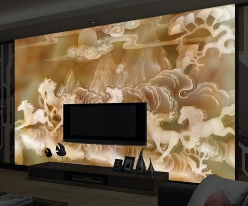 3D Horse Emboss 628 Wallpaper Murals Wall Print Wallpaper Mural AJ WALL UK Kyra