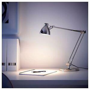 Nouveau-Ikea-ANTIFONI-Lampe-de-travail-nickele-chambre-bureau-etude-hauteur-44-cm