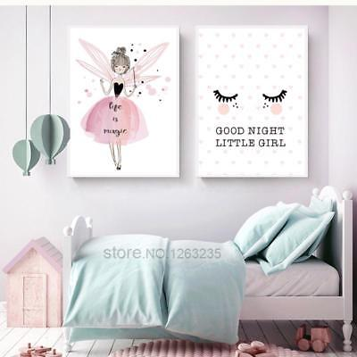 Baby Girl Room Wall Decoration Canvas Art Painting Unframed Nordic Poster Ebay