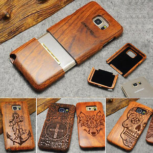 pretty nice 4738c b7367 Details about Natural Wooden Wood Bamboo Phone Case For Samsung Galaxy S9 &  Plus S8 S7 Cover