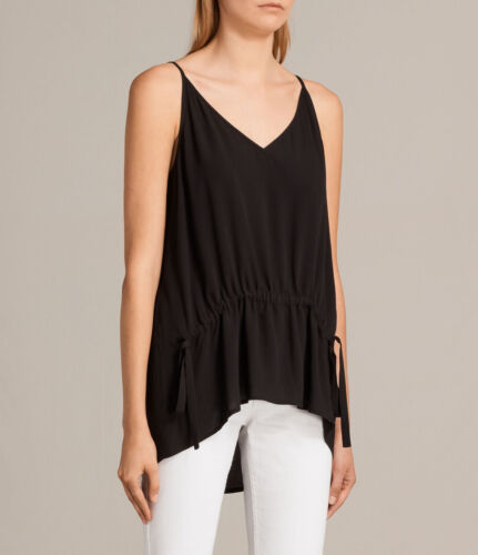 All Saints Black Isobel Top, Vest, Cami, Size Small