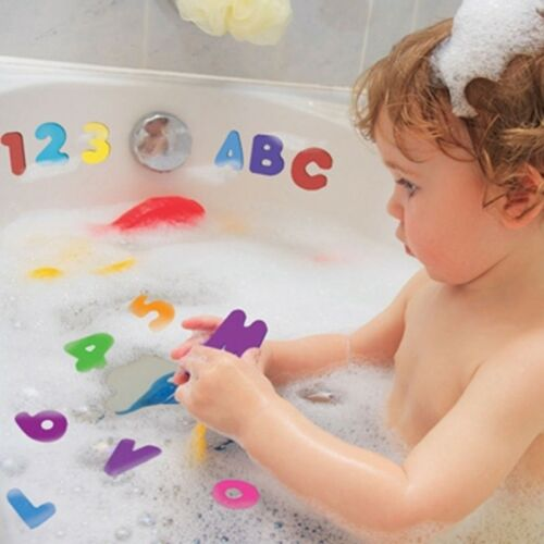 26 Letters 10 Numbers  Baby Bath Toy Foam Floating Bathroom Toys #IN9
