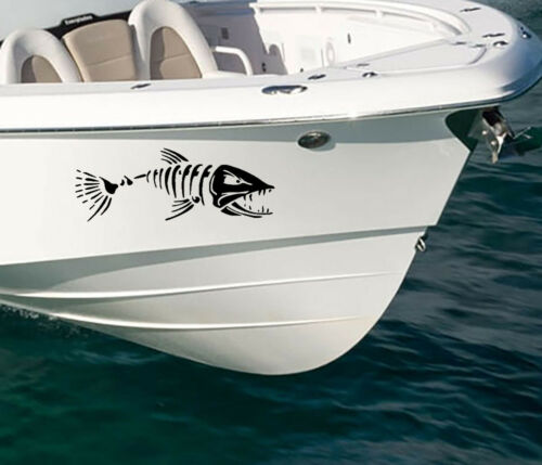 ANGRY FISH BOAT Decals Stickers 600x220-2ft long x2