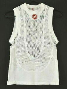 Castelli-Women-039-s-L-XL-Mesh-Net-Athletic-Swim-Cover-Beach-Surfing-Tank-Top-White