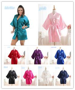 ~New Women Silk Satin Robes Wedding Bridesmaid Bride Gown kimono robe&*&