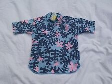 Girls O'NEILL Blue/Pink Pattern UV PROTECTION Short Sleeve Top size 2yrs New!