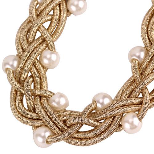 New Fashion Collier Perles Tissage Fait Main Bohême Collier Pour Femmes