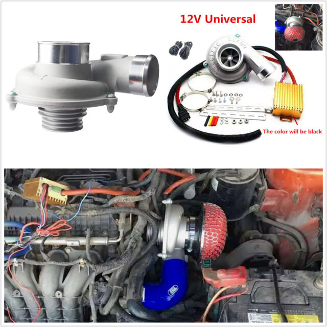 Electric Turbo Supercharger Air Filter Intake For Car Improve Sd Fuel Saver Online Ebay